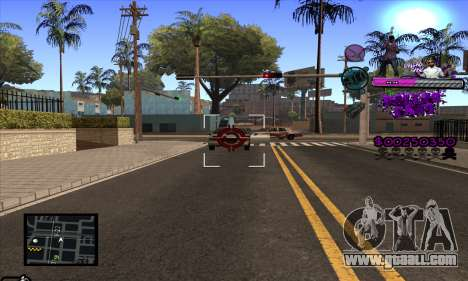 C-HUD Ballas Gang for GTA San Andreas fifth screenshot
