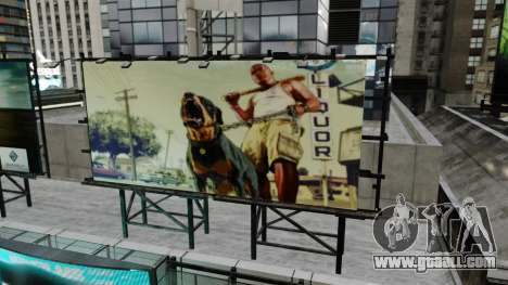 Billboards of GTA 5 for GTA 4 third screenshot