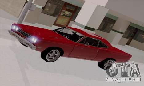 Plymouth Road Runner 383 1969 for GTA San Andreas interior