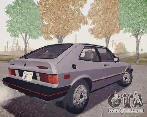 Volkswagen Scirocco S (Typ 53) 1981 HQLM for GTA San Andreas left view