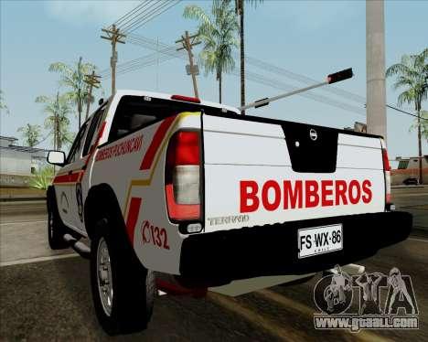 Nissan Terrano for GTA San Andreas back view