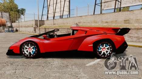 Lamborghini Veneno Roadster LP750-4 2014 for GTA 4 left view