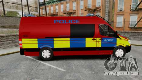 Mercedes-Benz Sprinter 313 CDI Police [ELS] for GTA 4 left view