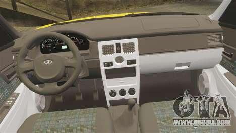 VAZ-Lada 2170 Priora for GTA 4 upper view