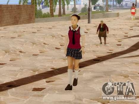 Hanako for GTA San Andreas forth screenshot
