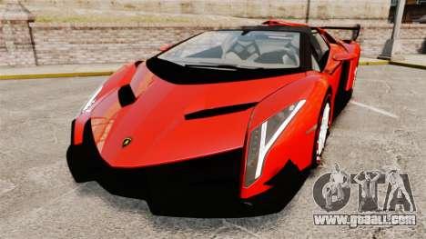 Lamborghini Veneno Roadster LP750-4 2014 for GTA 4