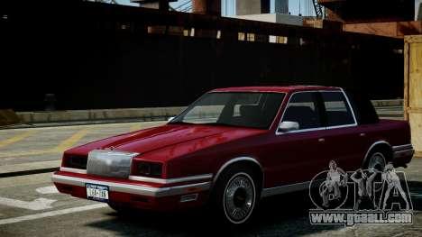Chrysler New Yorker 1988 for GTA 4 inner view