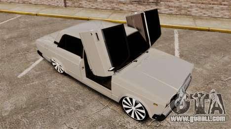 VAZ-2107 Lada for GTA 4 bottom view