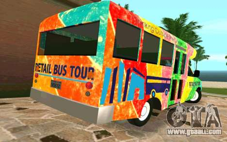 Ford E350 Shuttle Bus for GTA San Andreas back left view