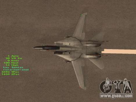 F-14 LQ for GTA San Andreas upper view