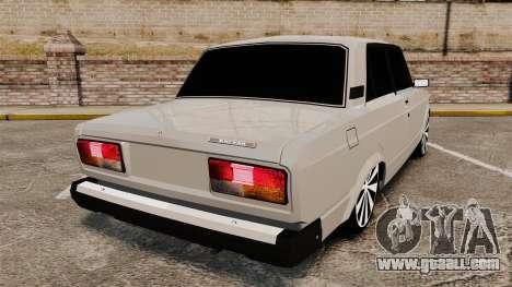 VAZ-2107 Lada for GTA 4 back left view