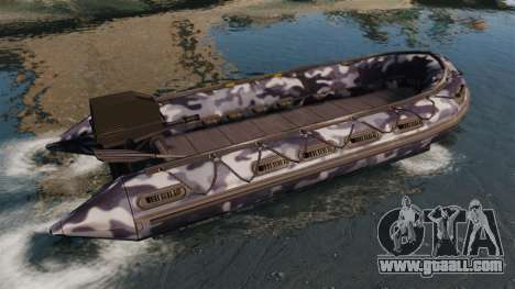 US Navy SEAL Zodiac for GTA 4 left view