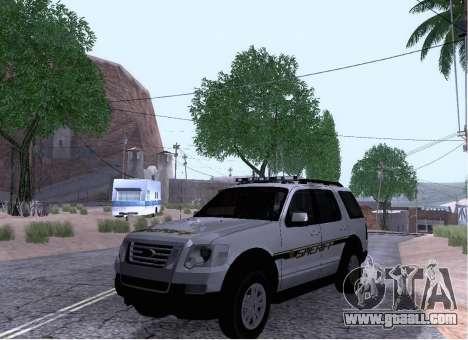 Ford Explorer Sheriff 2010 for GTA San Andreas