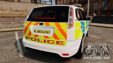 Ford Focus Estate British Police [ELS] for GTA 4 back left view