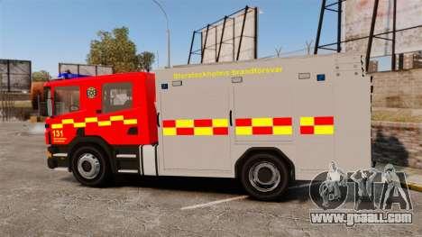 Scania 94D 260 BAS1 Stockholm Fire Brigade [ELS] for GTA 4 left view