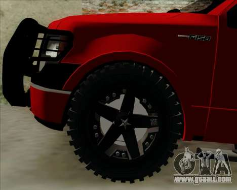 Ford F-150 for GTA San Andreas inner view