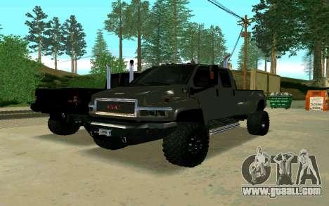 GMC Topkick for GTA San Andreas right view