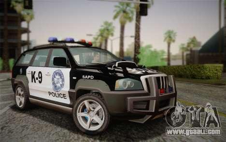 NFS Suv Rhino Heavy - Police car 2004 for GTA San Andreas
