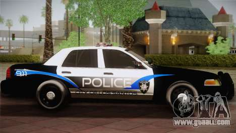 Ford Crown Victoria Police Interceptor 2009 for GTA San Andreas left view