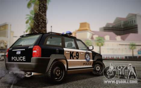 NFS Suv Rhino Light - Police car 2004 for GTA San Andreas back left view