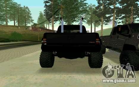 GMC Topkick for GTA San Andreas left view