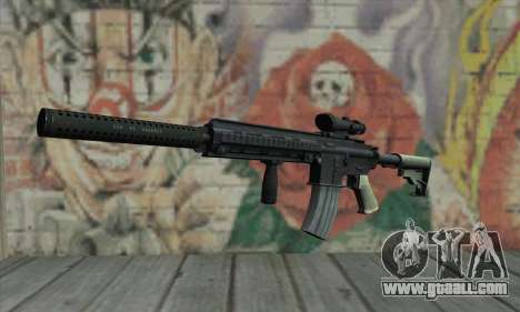 M416 with ACOG sight and silenced for GTA San Andreas