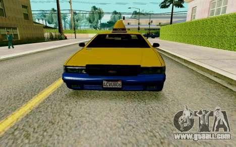 GTA V Taxi for GTA San Andreas left view