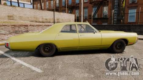 Dodge Polara 1971 for GTA 4 left view