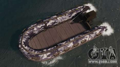 US Navy SEAL Zodiac for GTA 4 right view