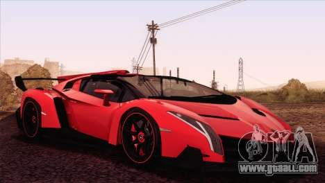 Lamborghini Veneno Roadster LP750-4 2014 for GTA San Andreas left view