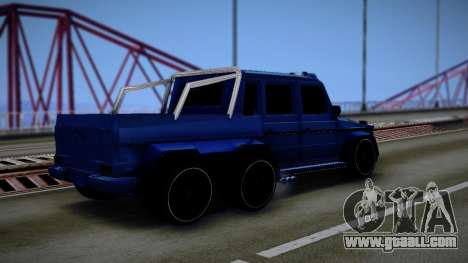 Mercedes-Benz G63 AMG 6x6 for GTA San Andreas back view