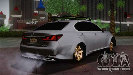 Lexus GS250 F for GTA San Andreas back left view