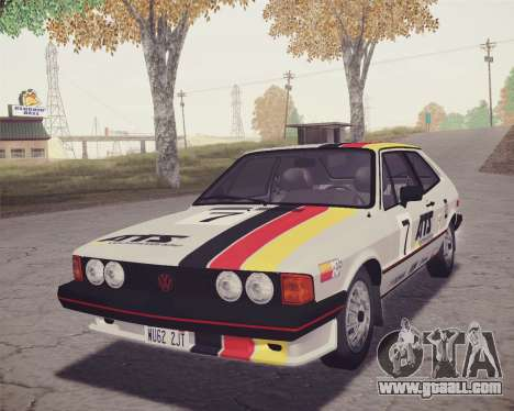 Volkswagen Scirocco S (Typ 53) 1981 HQLM for GTA San Andreas upper view