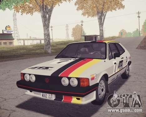 Volkswagen Scirocco S (Typ 53) 1981 HQLM for GTA San Andreas upper view
