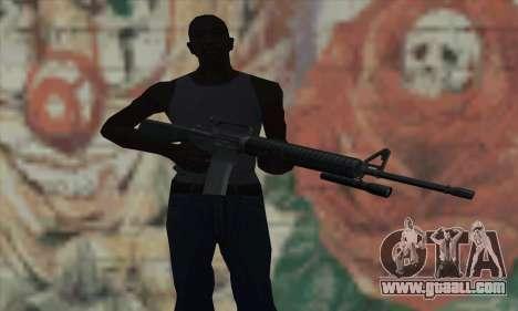 M16 from L4D for GTA San Andreas third screenshot