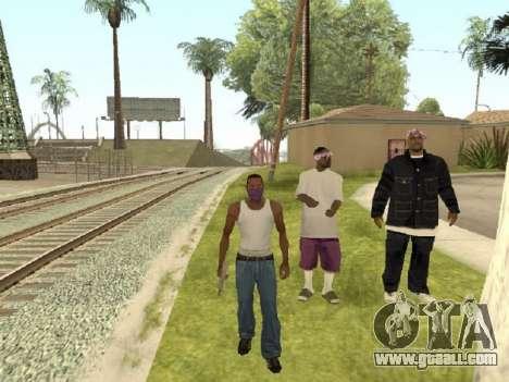 Go to the gang of Ballas for GTA San Andreas