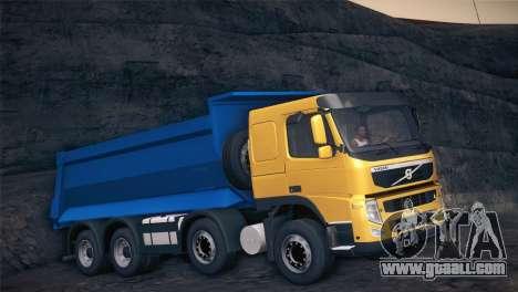 Volvo FM12 8X4 Dumper for GTA San Andreas left view