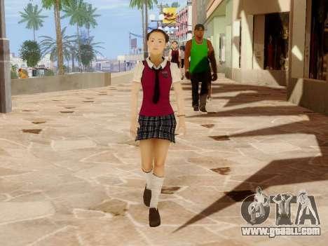 Hanako for GTA San Andreas ninth screenshot