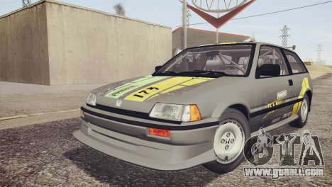 Honda Civic Si 1986 HQLM for GTA San Andreas