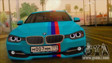 BMW 328d 2014 for GTA San Andreas right view