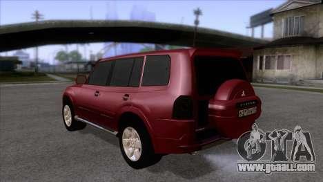 Mitsubishii Pajero IV for GTA San Andreas back left view