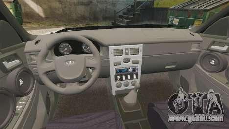 Vaz-2170 Lada Priora Luks for GTA 4 inner view