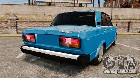 VAZ-2107 for GTA 4 back left view