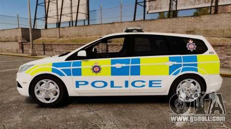 Ford Focus Estate British Police [ELS] for GTA 4 left view