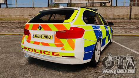BMW 330d Touring (F31) 2014 Police [ELS] for GTA 4 back left view