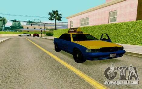 GTA V Taxi for GTA San Andreas right view