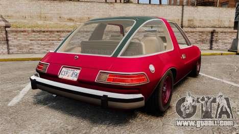 AMC Pacer for GTA 4 back left view