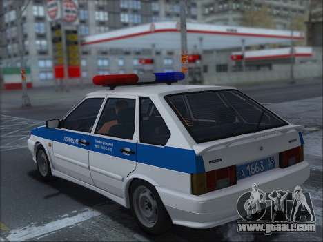 VAZ 2114 Police DPS for GTA San Andreas left view