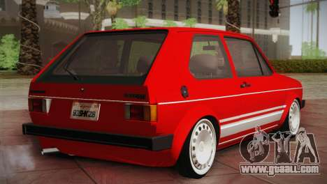 Volkswagen Golf MK1 Red Vintage for GTA San Andreas back left view