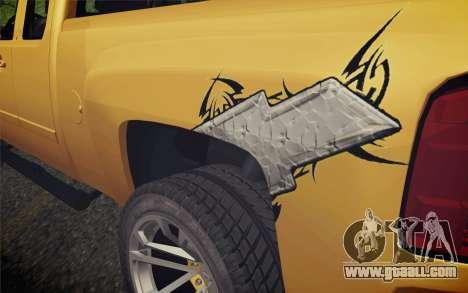 Chevrolet Silverado 2500 LTZ for GTA San Andreas back view